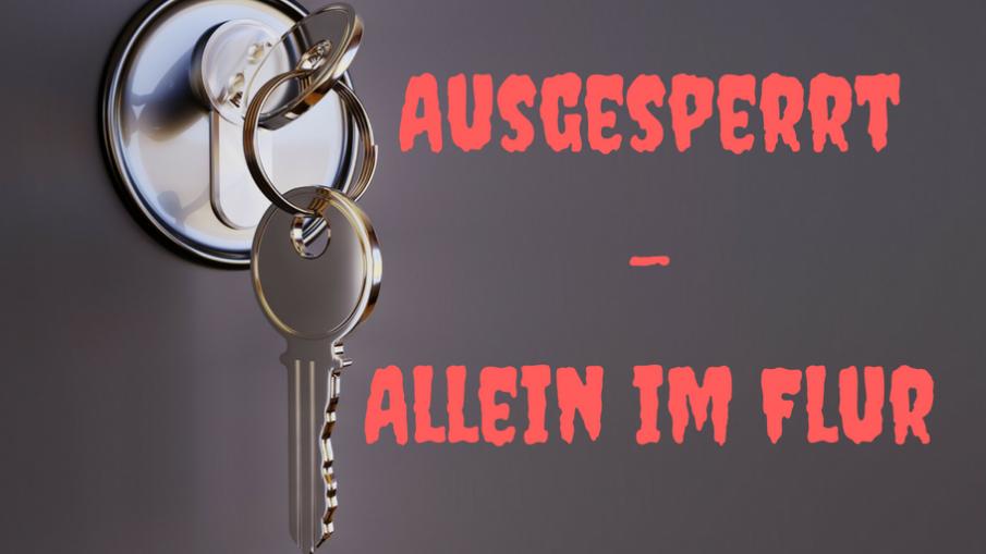 Ausgesperrt-Allein im Flur auf kinderalltag.de
