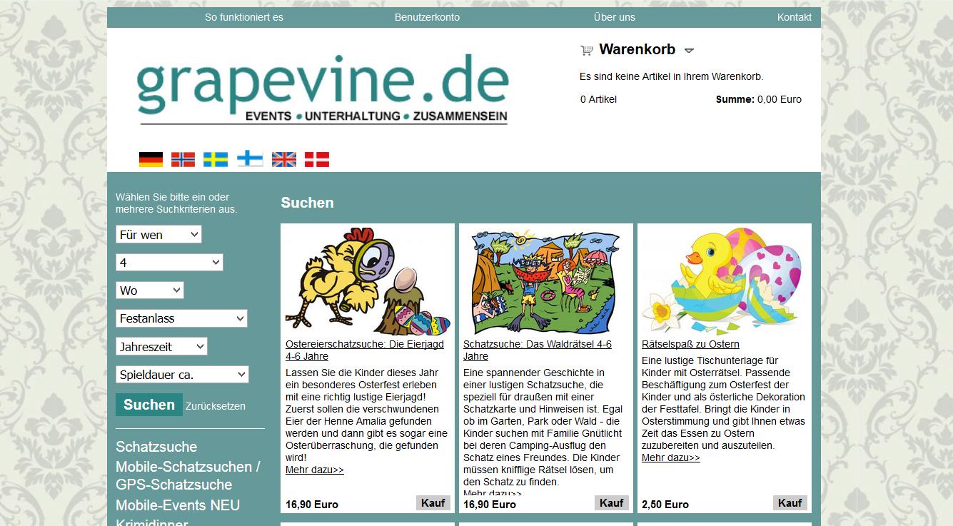 Die Website von grapevine.de