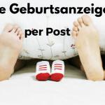 Eine Geburtsanzeige per Post