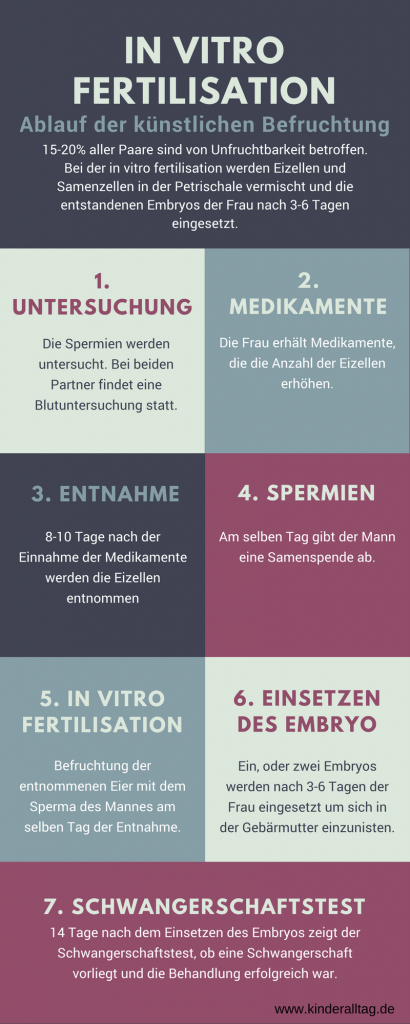 Infografik zu IVF - in vitro fertilisation auf kinderalltag.de