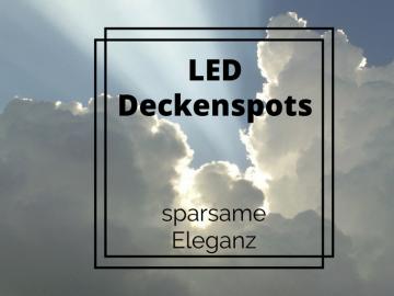 LED Deckenspots - sparsame Eleganz auf kinderalltag.de