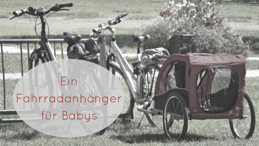 Ein Fahrradanhänger für Babys auf kinderalltag.de
