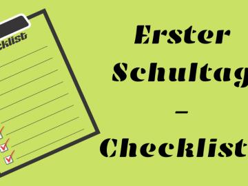 Erster Schultag - Checkliste auf kinderalltag.de