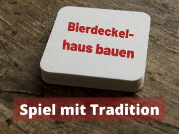 Bierdeckelhaus bauen - Spiel mit Tradition auf kinderalltag.de