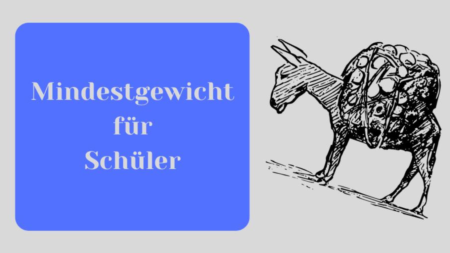 Mindestgewicht für Schüler auf kinderalltag.de